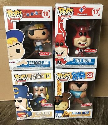 Funko Pop AD Icons CAP'N CRUNCH BAZOOKA JOE SUGAR BEAR THE NOID Lot of 4