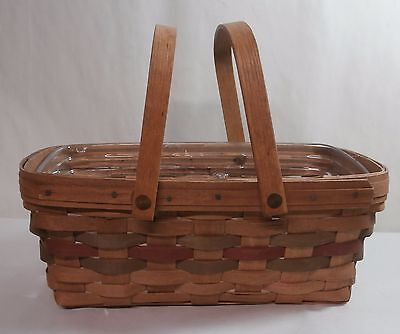 Longaberger 1987 Medium Chore Basket Easter Signature Series - Signed by Dave