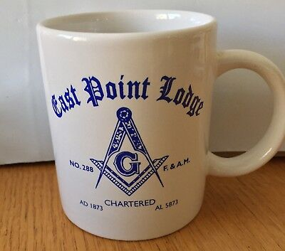 Vintage East Point Masonic Lodge 288 Coffee Cup w 1995 Officers