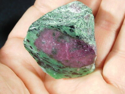 A POLISHED Red RUBY Crystal In a Green Zoisite Matrix! From Tanzania 78.5gr