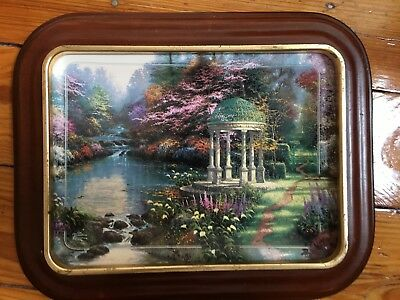 Thomas Kinkade The Garden of Prayer Numbered Collectible Plate w/Frame