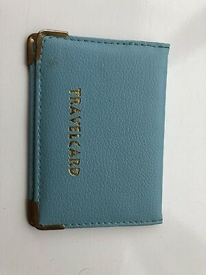 Bus Pass Card Holder Wallet Blue Travelcard Plastic Good Condition