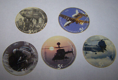 Lot of 5 6th print 2005  AAFES Pog  U.S. ARMY Money 5C,D,E,G and 5K5