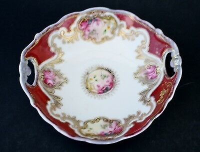 Antique Nippon Bowl Hand Painted Porcelain Noritake Floral