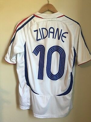 188ebddeb21 2006 Adidas France World Cup Zinedine Zidane Jersey Away Shirt Jersey