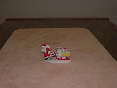 Antique Bisque Santa Claus Pulls A Toy Laden Sled& Angel  Snow Baby Germany