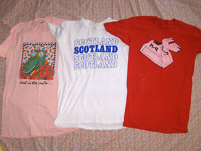 Medium T-shirt lot Vintage Dr. Who K-9, Scotland, New Orleans. Wear or Fabric.