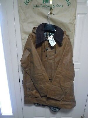 Barbour- A60 Longshoreman Waxed Cotton Smock- Made In England - Rare -Size Large