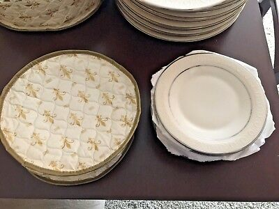 """Franciscan China """"Moon Glow"""" Rimmed Bread and Butter Plates--Set of 10"""