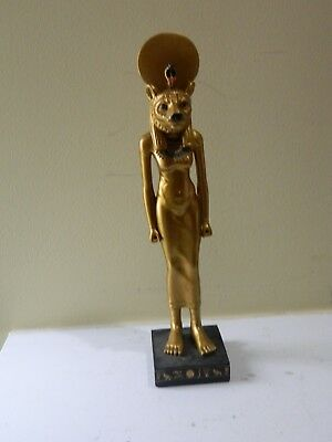 Egyptian Sekhmet Lion Goddess Statue, about 9 1/8inches tall to include the base