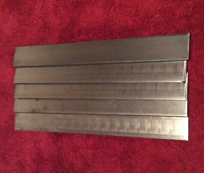 "1095 STEEL BAR STOCK (5 pieces) 1/8"" x 1 1/2"" x 12""  FORGING KNIFE MAKING"