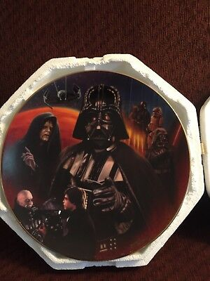 Star Wars Darth Vader Plate Hamilton Collection Heroes and Villains W/Coa
