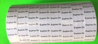 Monarch 1131 EXPIRES ON Labels  WHT WITH BLK INK 2,500/rl 8rls/pk (20,000) w/ink
