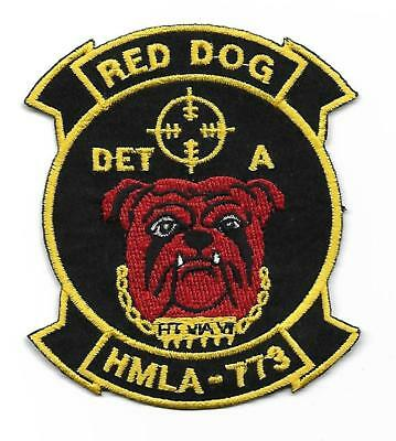 USMC HMLA-773 RED DOG DET-A patch UH-1 / AH-1 LIGHT ATTACK HELICOPTER SQN
