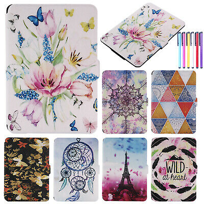 For Kindle Paperwhite 1/2/3 Patterned Smart Leather Flip Ultra Slim Cover Case