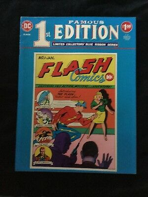 FLASH #1 FAMOUS FIRST EDITION LIMITED TREASURY BLUE RIBBON ~ 1975 DC Comics!