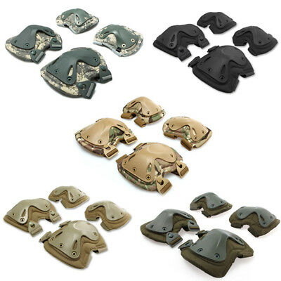 Outdoor Sports Elbow Knee Guard Pads Combat Tactical Military Protector Gear Set