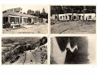 TENNESSEE 4 DIFFERENT VINTAGE REAL PHOTO POSTCARDS by CLINE - GLASS HOUSE etc