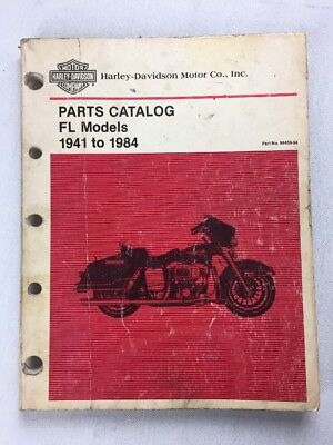 Harley Davidson Parts Catalog FL Models 1941 To 1984 Part No. 99456-84