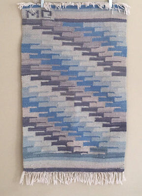 Hand Woven Wall Hanging Textile Rug Mat Vintage Home Decor Southwest Geometric