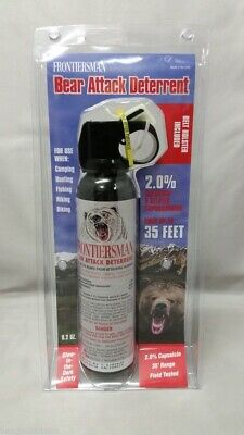 NEW Sabre Frontiersman Bear Spray 9.2oz w/Belt Holster Maximum Strength 35' Rng