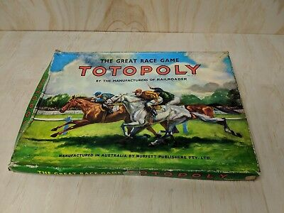 Vintage Totopoly Horse Racing Board Game