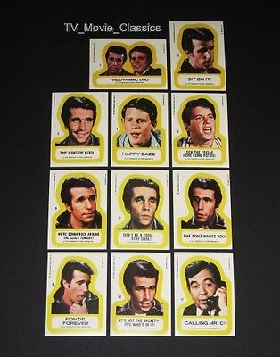 HAPPY DAYS (1st Series) © 1976 Topps Complete 11 Sticker Card Set