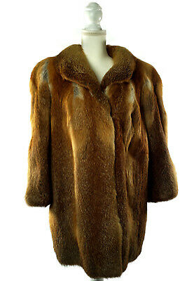 Womens Ladies X-Large Xl Red Real Fox Fur Coat Jacket Winter