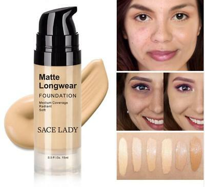 Foundation Base Makeup Professional Face Matte Finish Liquid Make Up Concealer