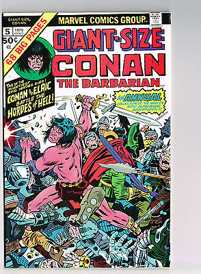 Giant-Size Conan The Barbarian #5 Marvel 1975 Nm Unread R.e. Howard Barry Smith