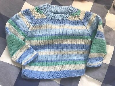 Hand Knitted Baby Jumper. New. 3-6 Months