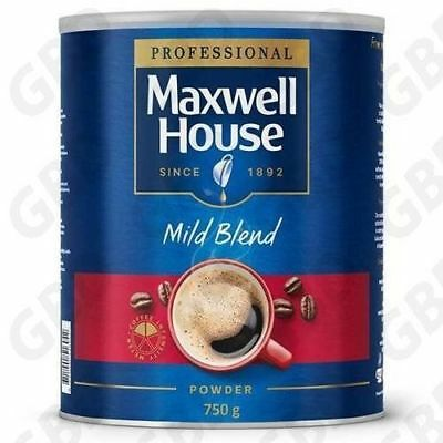 Maxwell House Coffee Mild Blend 750g Tin SHANEZ Instant Coffee Free Post Aussie