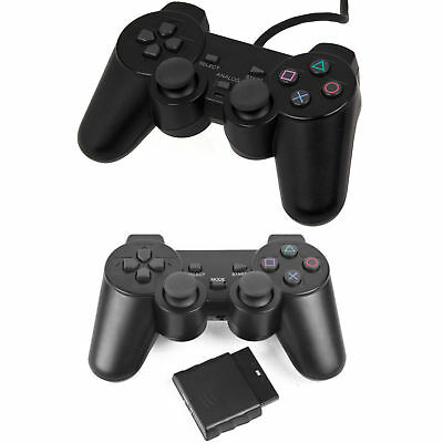 Black Wired Controller  Joypad Dual Shock Gamepad for PS2 PlayStation 2 NEW UK