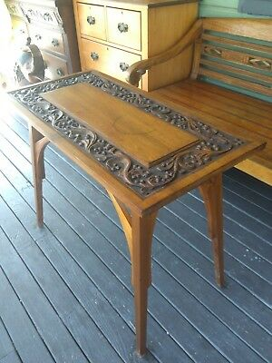 Antique, Victorian Arts and Crafts Table