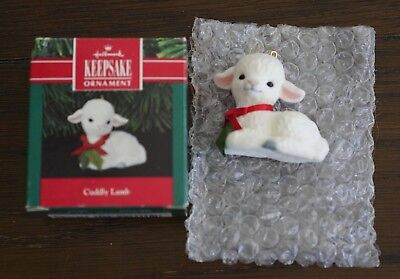 Lot of Hallmark Ornaments - Hallmark Cuddly Lamb & Hallmark Nutty Squirrel