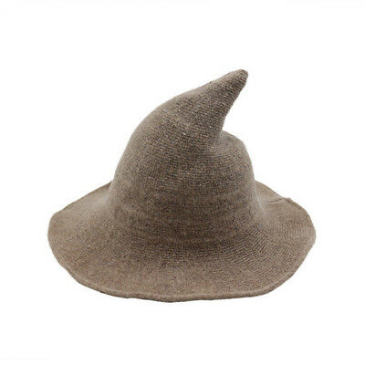 AU Modern Witch Hat Made From High Quality Sheep Wool Halloween Witch Hat Hot