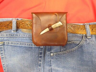 Leather Belt Wallet/Bag, Mountain Man Possibles Bag, Reenactment/Medieval Pouch