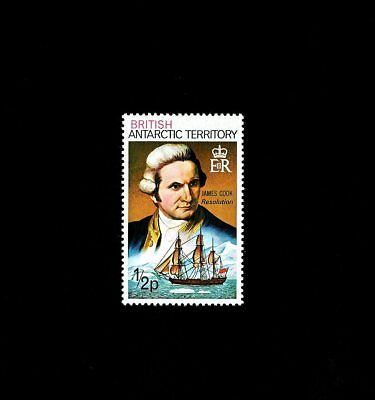British Antarctic Terr - 1975 - Captain Cook - Resolution - Ship - Mnh Single!