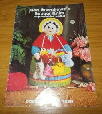 Knitting Book~Jean Greehowe's Bazaar Knits~40 Novelties For Fetes & Gifts~1990