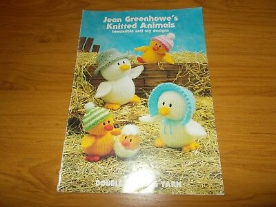Knitting Book~Jean Greehowe's Knitted Animals~Owl~Frog~Dog~Koala~Elephant~1990
