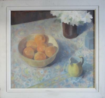 ANNE-MARIE BUTLIN superb Original Impressionist STILL LIFE flowers OIL PAINTING