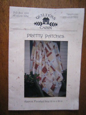 Pretty Patches Quilting Pattern From Quilters Cabin. 81 X 81 Inches.