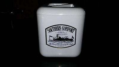Southern Comfort White Plastic Ice Bucket Barware/Man Cave