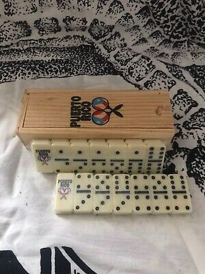 Puerto Rico Flag Guitar Double Six Dominos Dominoes Boricua Rican (TRAVEL SIZE)