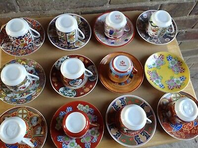 China Cups And Saucers Japan Chinese 11 Sets