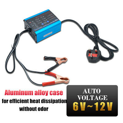 6V/12v 10A 6A 2A Electronic Smart Car Battery Fast Trickle Charger AGM WET ACID