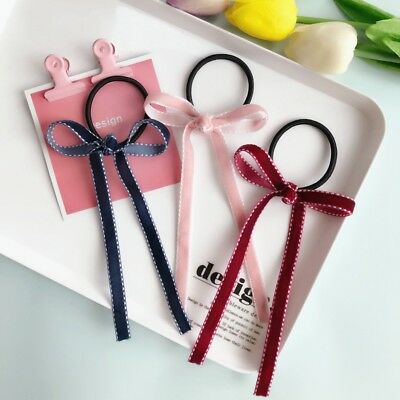 Long Hair Band Rope Elastic Women Cute Holder Headband Ponytail Ribbon Bow Tie