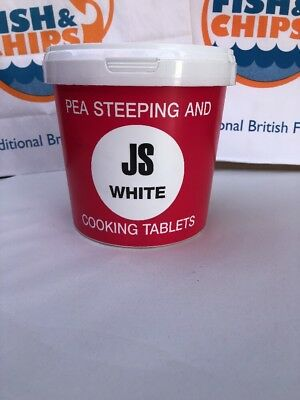 White Pea Steeping And Cooking Tablets X160 Drywite JSW fish and chip
