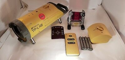 Topcon TP-L4B Red Beam Pipe Laser Level Kit w/ RC-200 Remote & Targets