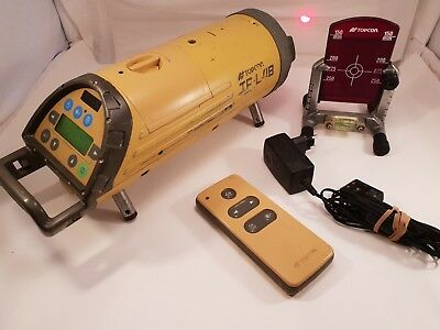 Topcon TP-L4B Red Beam Pipe Laser Level Kit w/ RC-200 Remote & Targets 2 targets